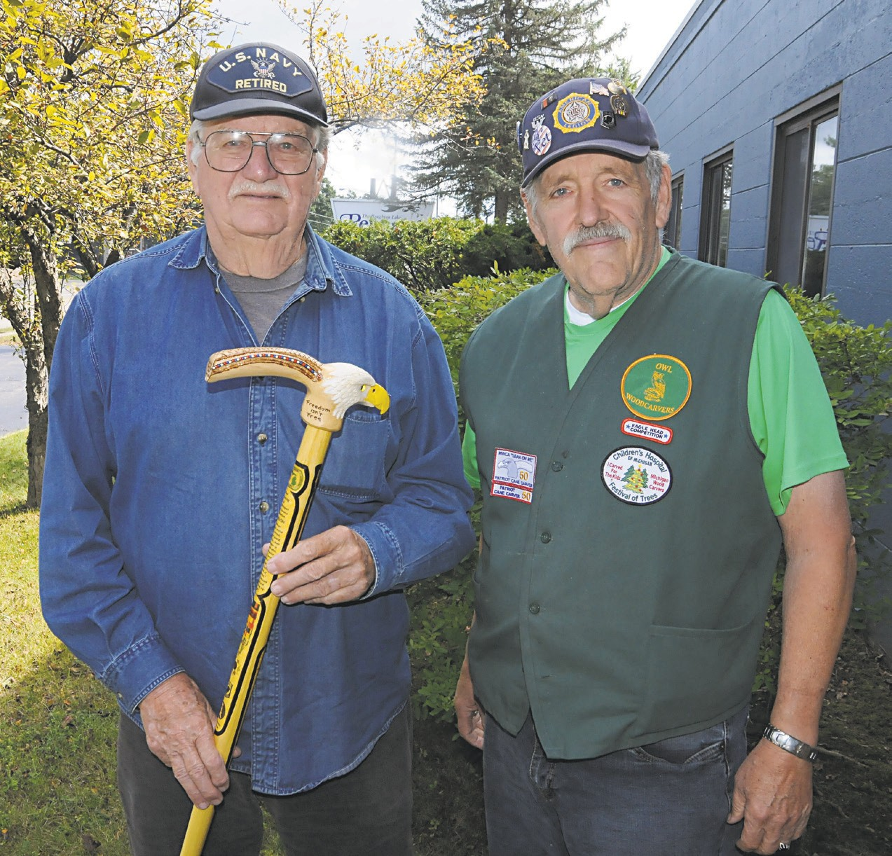 HONORED WITH CARVED CANE | Houghton Lake Resorter
